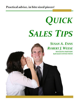 B2B Sales Connections Sales & Sales Management Training Book - Quick Sales Tips Cover